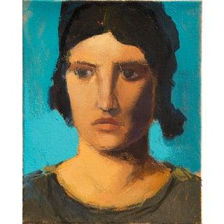 Greek Portrait Painting on Canvas For Sale