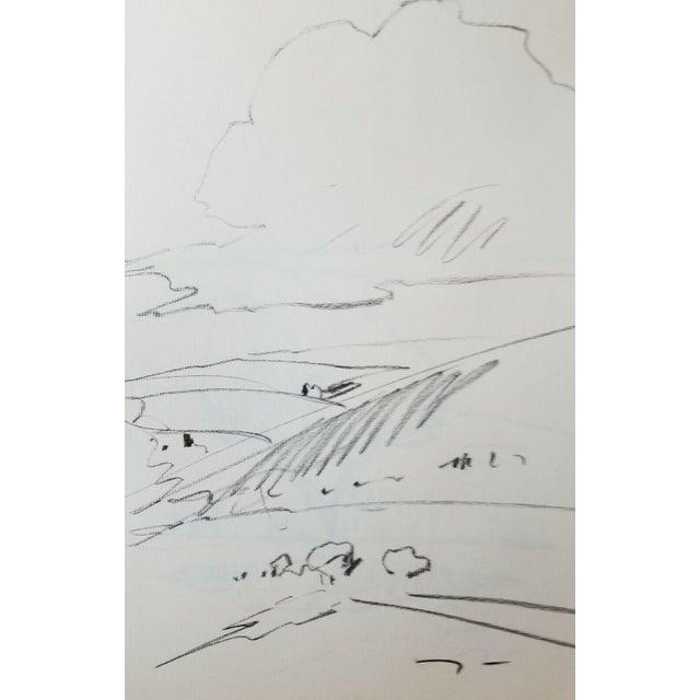 Jose Trujillo Stratus Cloud Sky Charcoal Drawing For Sale