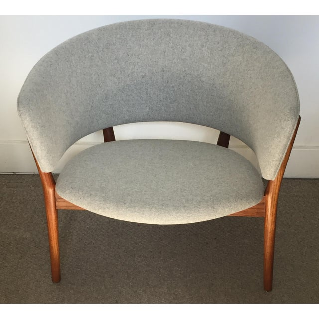 Gorgeous Nina Ditzel Lounge Chair. New wool upholstery, teak frame. Excellent condition.