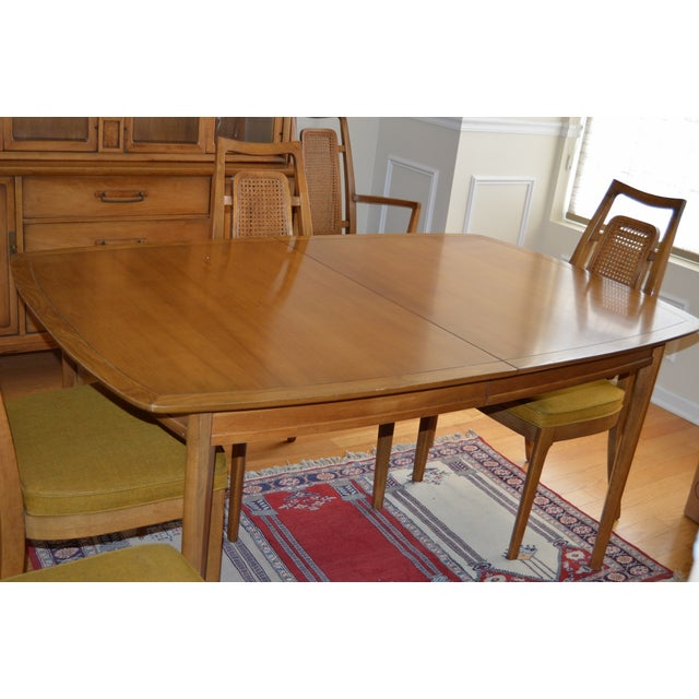 Beautifully Maintained Mid 60s Dining Room Set With Six Chairs Two Arms