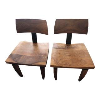 Modern Ralph Pucci's Chris Lehrecke Walnut Chairs- A Pair For Sale