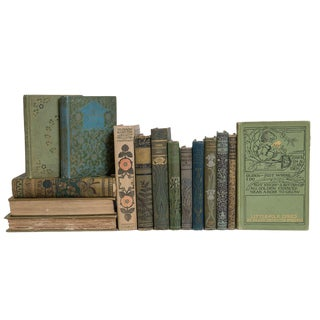 Antique Forest Floral Book Set For Sale