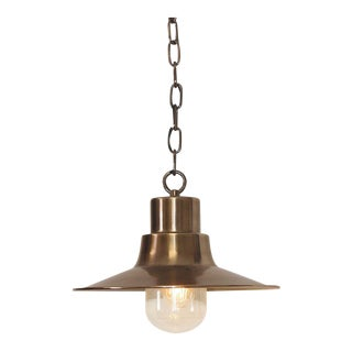 Sheldon Brass Chain Lantern For Sale