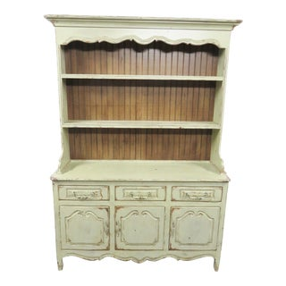 Habersham Country French Distressed Painted Cupboard For Sale