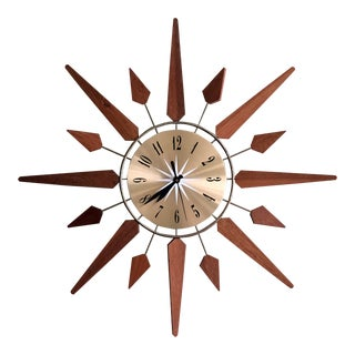 Mid-Century Starburst Clock For Sale