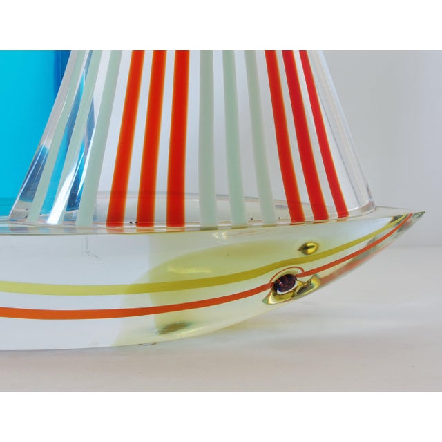 1980s Sailboat Sculpture by Alberto Dona' For Sale - Image 5 of 9