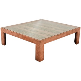 Moroccan Handcrafted Large Square Coffee Table For Sale