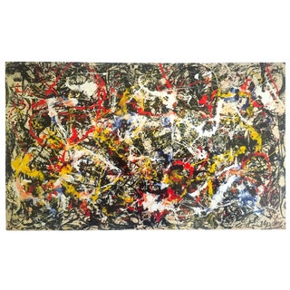 "Jackson Pollock Foundation Abstract Expressionist Collector's Lithograph Print "" Convergence : No.10 "" 1952 For Sale"