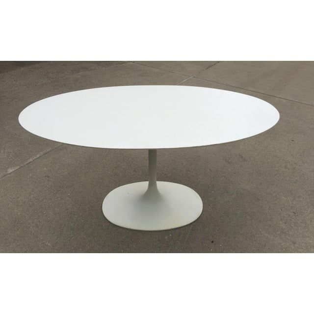 Mid-Century Saarinen Style Oval Tulip Table For Sale - Image 9 of 12