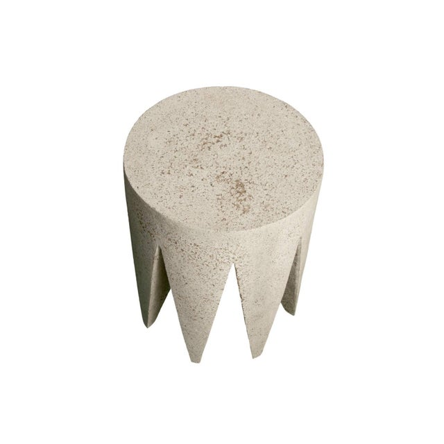 Cast Resin 'King Me' Side Table, Natural Stone Finish by Zachary A. Design For Sale - Image 4 of 7