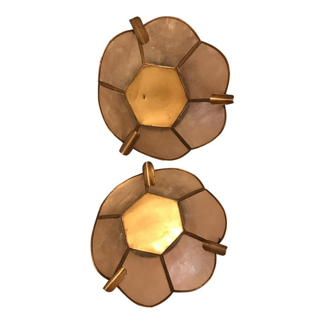 Vintage Lotus Brass Candle Holders - A Pair - Image 1 of 9