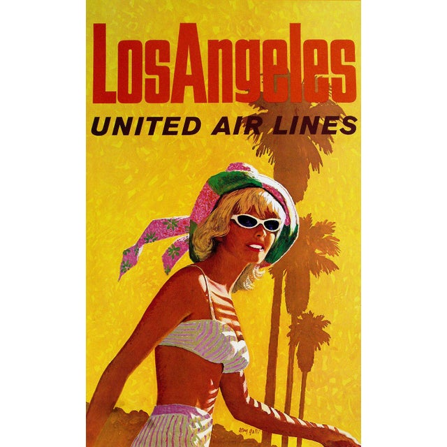 Vintage Reproduction Los Angeles Travel Poster - Image 2 of 2