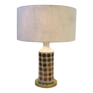 Italian Ceramic and Brass Table Lamp by Bitossi For Sale