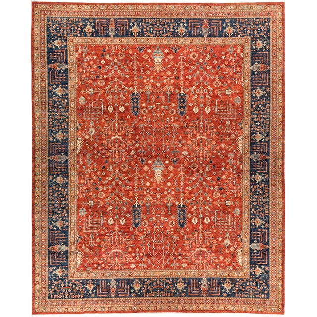 """Serapi Hand Knotted Area Rug - 12' 0"""" X 14' 7"""" - Image 4 of 4"""