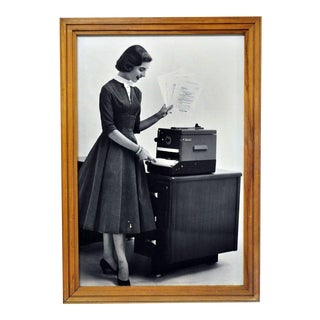 Framed 1956 Kodak Verifax Copier Ad IV