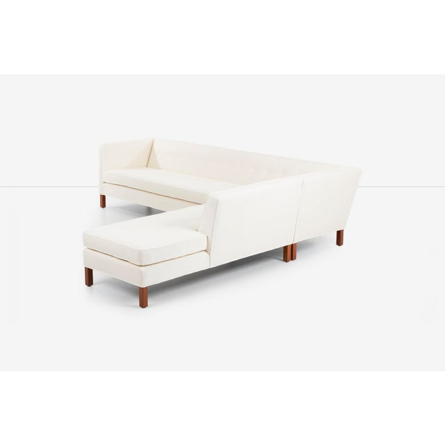 Cream Edward Wormley for Dunbar Sectional Sofa For Sale - Image 8 of 13