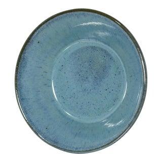 Vintage Japanese Aqua Pottery Bowl, Signed For Sale