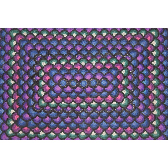 20th Century Pennsylvania Mennonite Geometric Rug For Sale - Image 4 of 5