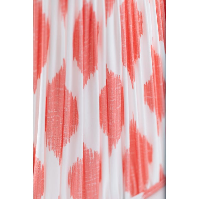 """Not Yet Made - Made To Order Signature Ikat in Coral 18"""" Lamp Shade, Peach For Sale - Image 5 of 7"""