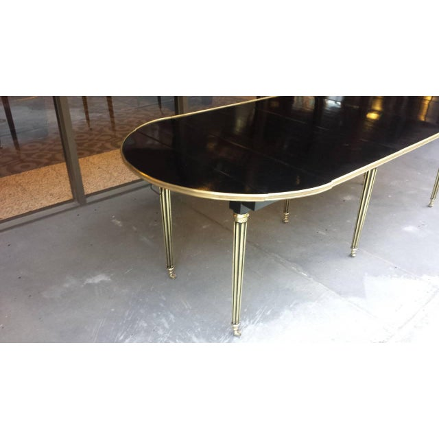 Modern Exquisite Maison Jensen Ebonized Mahogany Dining Table For Sale - Image 3 of 8