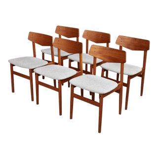 Børge Mogensen Mid Century Danish Modern Teak Sculptural 1960's Dining Chairs - Set of 6 For Sale