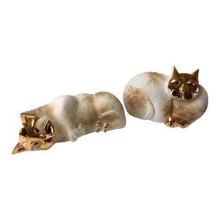 Pelletier Modern Cat Sculptures - a Pair For Sale