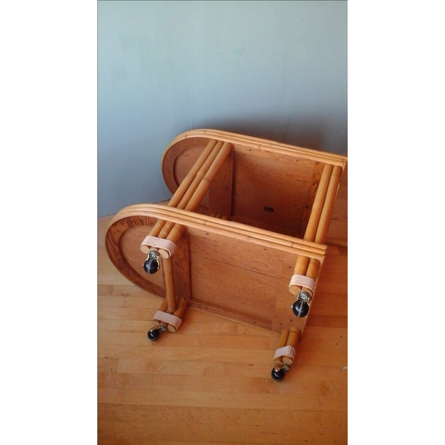 Vintage Ritts Tropitan Tiki Rattan Bamboo Bar Cart - Image 9 of 10