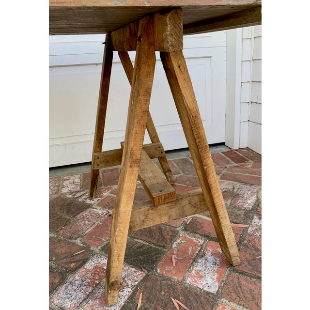 Pink 19th Century French Saw Horse/Trestles Table For Sale - Image 8 of 9