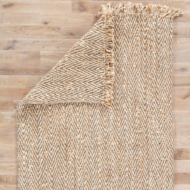 Jaipur Living Hoopes Natural Chevron Beige/Gray Area Rug - 9′ × 12′ For Sale - Image 4 of 6