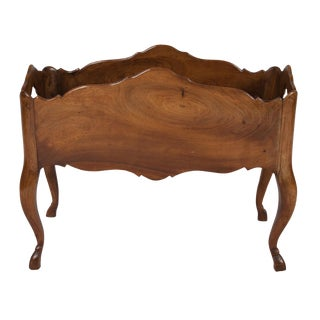 French Louis XV Style Walnut Jardiniere, 1920 For Sale