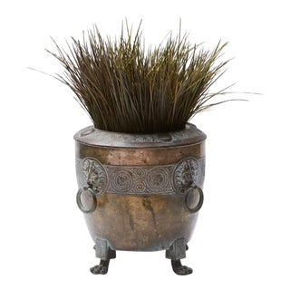 Early 19th Century Vintage Brass Planter For Sale