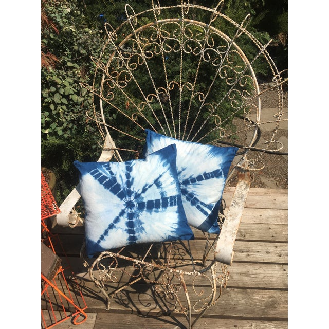 Hand dyed in an all natural plant indigo vat in the Oregon forest, these pillows are imbued with the uniqueness of nature...