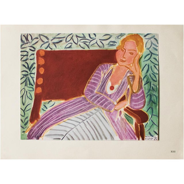"Lithograph 1946 Henri Matisse, ""Girl in the Persian Dress"" Parisian Lithograph/Pablo Picasso Collection For Sale - Image 7 of 13"
