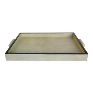 Natural Shagreen Rectangular Tray