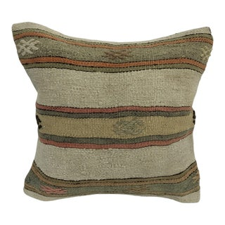 Turkish Handmade Striped Patterned Decorative Pillow Cover For Sale
