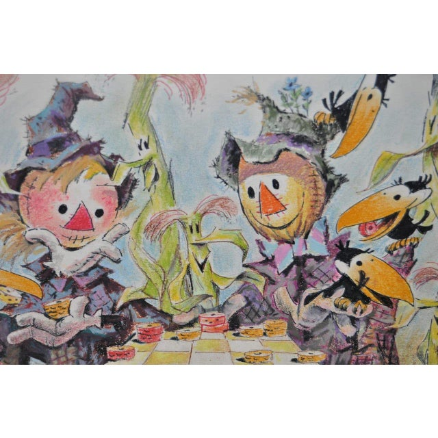 """Art Riley Original Cartoon """"Checkers"""" Painting c.1960s For Sale - Image 4 of 5"""