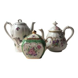 A Trio of Vintage Tea Pots For Sale