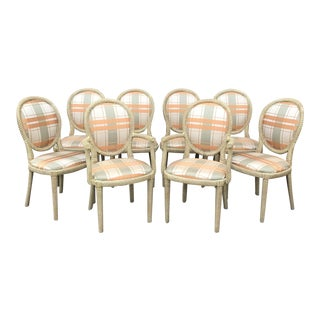 Vintage Rope Style Chairs - Set of 8