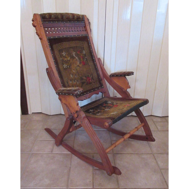 Surprising Victorian Eastlake Folding Rocking Chair Pdpeps Interior Chair Design Pdpepsorg