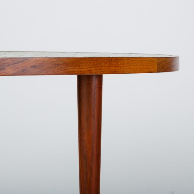 White Tile-Top Walnut Dining Table by Gordon & Jane Martz for Marshall Studios For Sale - Image 8 of 13