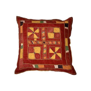 Indian Banjara Embroidery Pillow For Sale