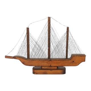 1900s Folk Art Ship Model For Sale