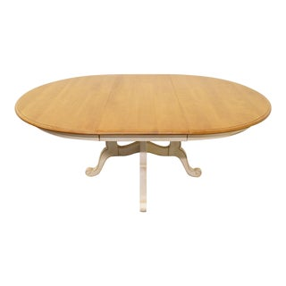 Ethan Allen Country French Collection Pedestal Dining Table For Sale