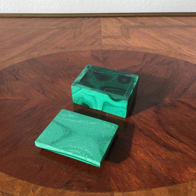 Gemstone Malachite Trinket Box For Sale - Image 7 of 8