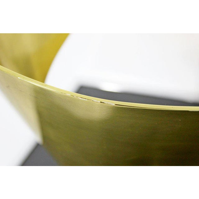 Mid-Century Modern Bronze Ribbon Marble Table Sculpture Signed James Nani 1978 For Sale - Image 9 of 13