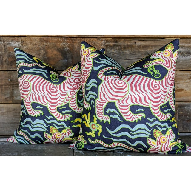 Clarence House Chinoiserie Clarence House Tibet Tiger Pillows - a Pair For Sale - Image 4 of 4