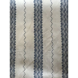Schumacher Nauset Stripe Linen Fabric - 3.5 Yards For Sale