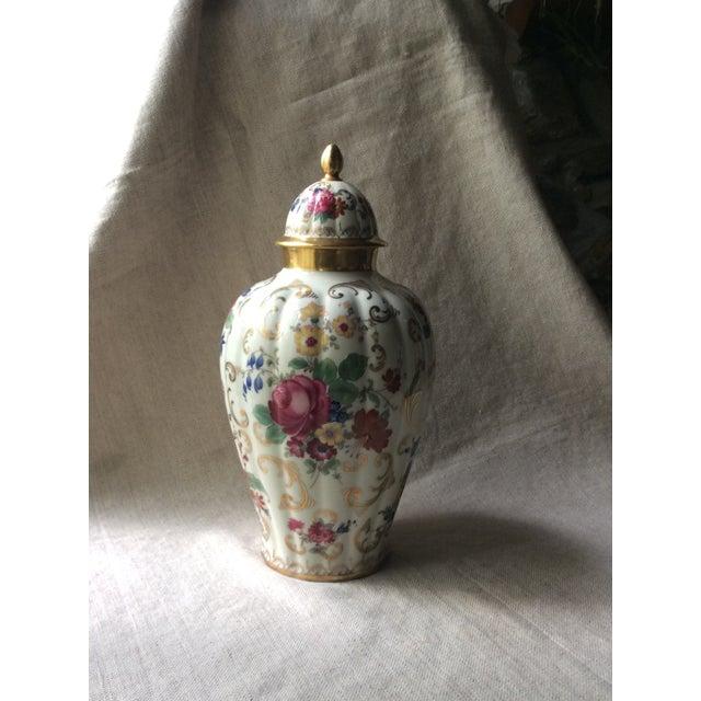 Dark Pink Antique Austrian Porcelain Temple Jar For Sale - Image 8 of 13