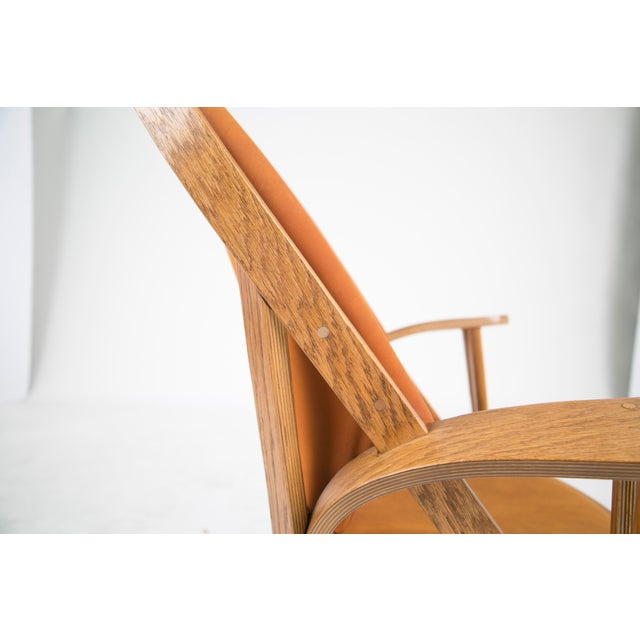 Norman Ridenour Bentwood Low Armchairs - A Pair For Sale - Image 10 of 13