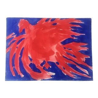 Original Vintage Robert Cooke Chicken Painting For Sale